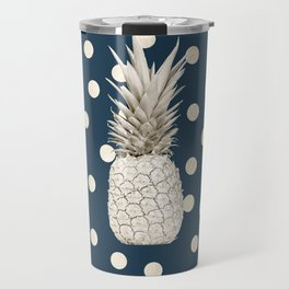 Gold Pineapple Polka Dots 2 Travel Mug