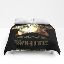 Save White Tiger, tiger print, white tiger wall decor, tiger gift idea Comforters