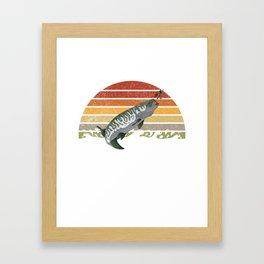 Vintage Musky Shirt Muskie   Pike   Muskellunge Framed Art Print