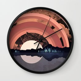 Forest Night Reflection Wall Clock