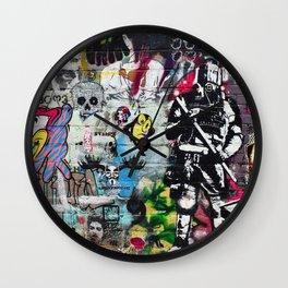 Graffiti wall 8 Wall Clock