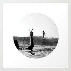 Surfing Days Art Print