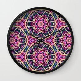 Purple and Gold Glitter Tribal Bohemian Wall Clock