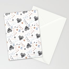 Optometry on White Stationery Cards