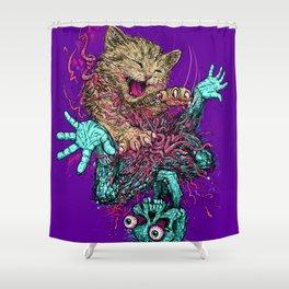 Zombie Nomz Shower Curtain