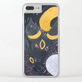 One with the Moon Clear iPhone Case