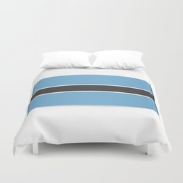 Flag of Botswana. The slit in the paper with shadows.  Duvet Cover