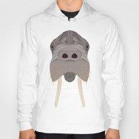 walrus Hoodies featuring Walrus by Aaron Keshen