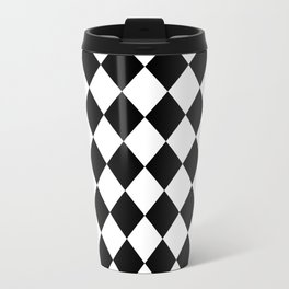 Contemporary Black & White Gingham Pattern - Mix and Match Travel Mug