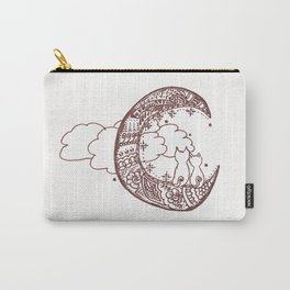 44. Cat Lovers on the Moon with Henna Carry-All Pouch