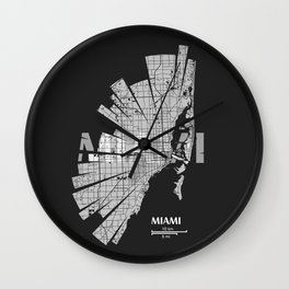 Miami Map Wall Clock