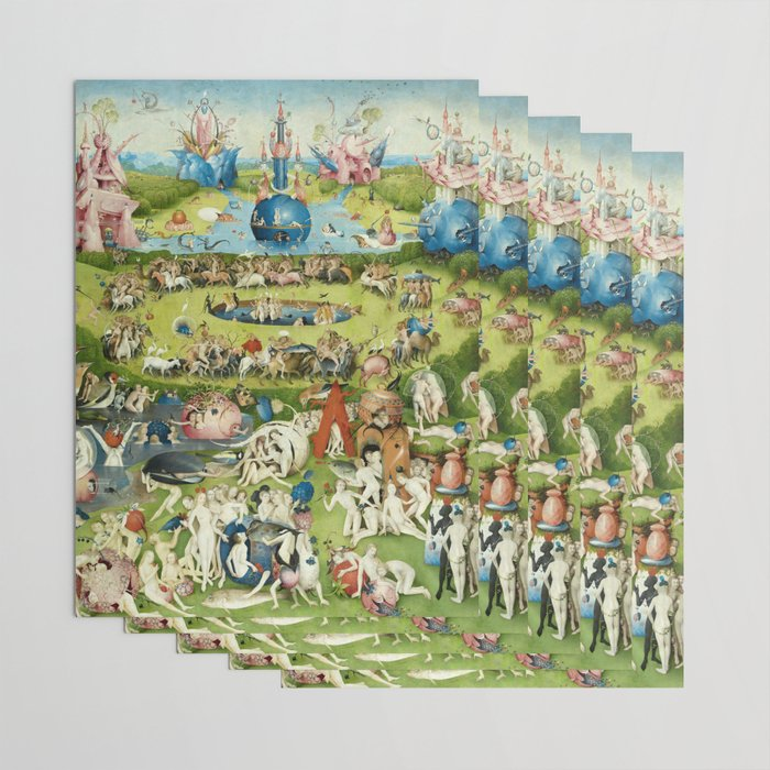 The Garden of Earthly Delights by Hieronymus Bosch Wrapping Paper by  fineearthprints