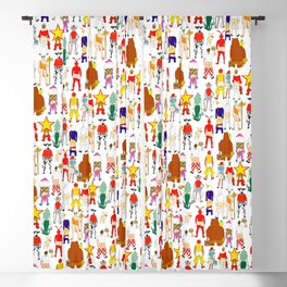 Fast Food Butts Pattern Blackout Curtain