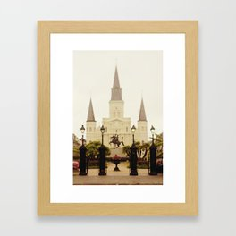New Orleans Looking Through Jackson Square Framed Art Print