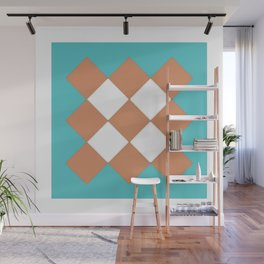 """Geometic Print """"Quilted"""" Wall Mural"""