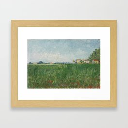 Field with Poppies Framed Art Print