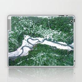 AERIAL. River Lakaja in woods of Labanoras, Lithuania Laptop & iPad Skin