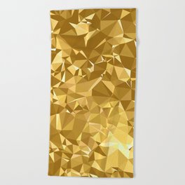 Gold Triangles Beach Towel