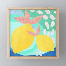 Pink Lemonade - Shapes and Layers no.32 Framed Mini Art Print