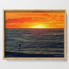 Paddle Boarding at Sunset Serving Tray