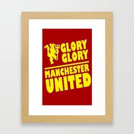 Slogan Reds Framed Art Print