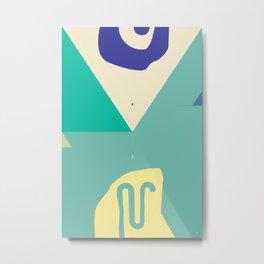 Secret Surf Map 003 — Matthew Korbel-Bowers Metal Print