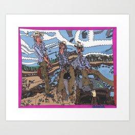 Denim Blues Art Print
