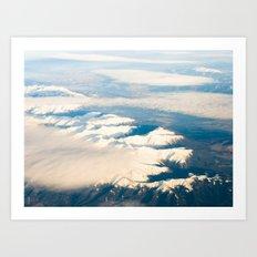 Mountains with snow Art Print