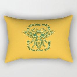 Yellow Bee Rectangular Pillow