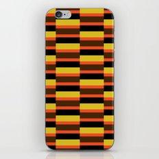 Orange stripe pattern iPhone & iPod Skin