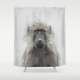 Baboon - Colorful Shower Curtain