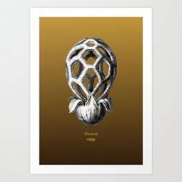 iFunch brown Art Print