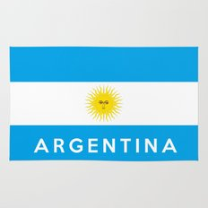 argentina country flag name text Rug