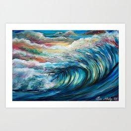 The Rainbow Wave Art Print
