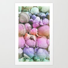 Vintage Candy Shells Art Print