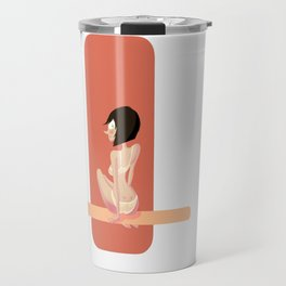 Cute red shapes pin-up / Mignonne pin-up aux formes rouges Travel Mug