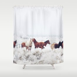 Winter Horseland Shower Curtain