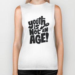 youth is not an age Biker Tank