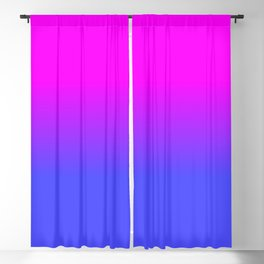 Neon Blue and Hot Pink Ombré Shade Color Fade Blackout Curtain