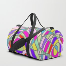 Stain Glass Abstract Meditation Tango Duffle Bag
