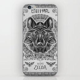 Legend of Zelda Twilight Wolf Link Line Art iPhone Skin