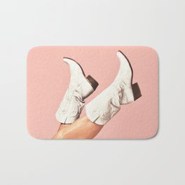 These Boots - Pink Bath Mat