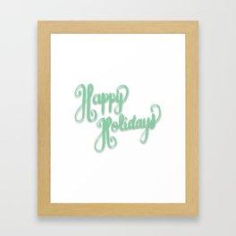 Happy Holidays Framed Art Print
