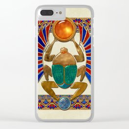 Sarcophagus 3d Egyptian Folk Art Clear iPhone Case