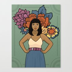 Dala & Flowers Canvas Print