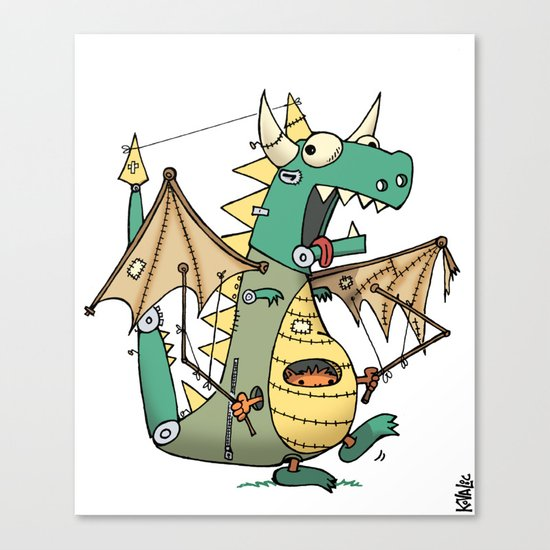 A Kobold in Dragon Clothing Canvas Print