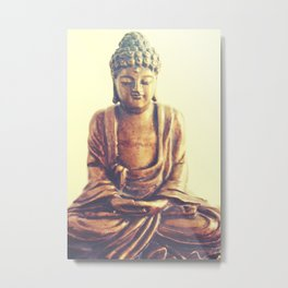 Serene Buddha Metal Print