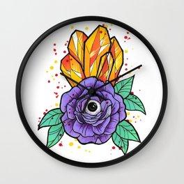 crystal eye Wall Clock