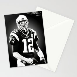 Tom Brady poster, canvas, New Eng-land Patriots for Wall Art Decor, Gym, Home Living, Bedroom, Office Decorations,, mancave with quote Stationery Cards