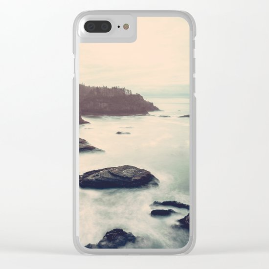 Ocean Motion Clear iPhone Case